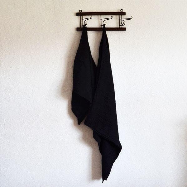 hørhåndklæde sort