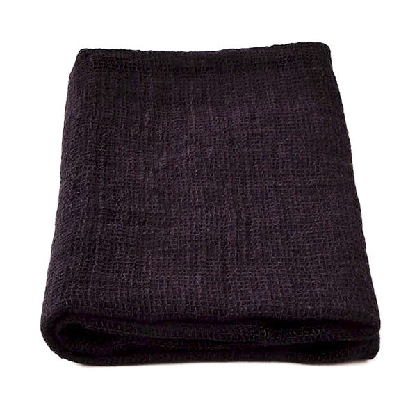 Linen towel Black