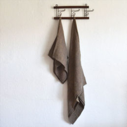 hørhåndklæde lille vaffel brun