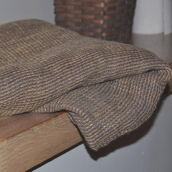 håndklæde i vasket hør, brun