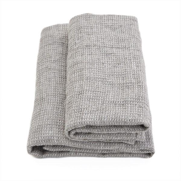 blødt hørhåndklæde natur