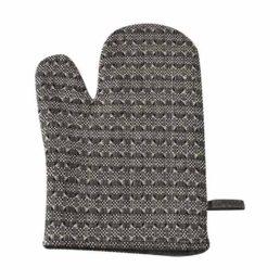 køkken handske i hør sort og hvid