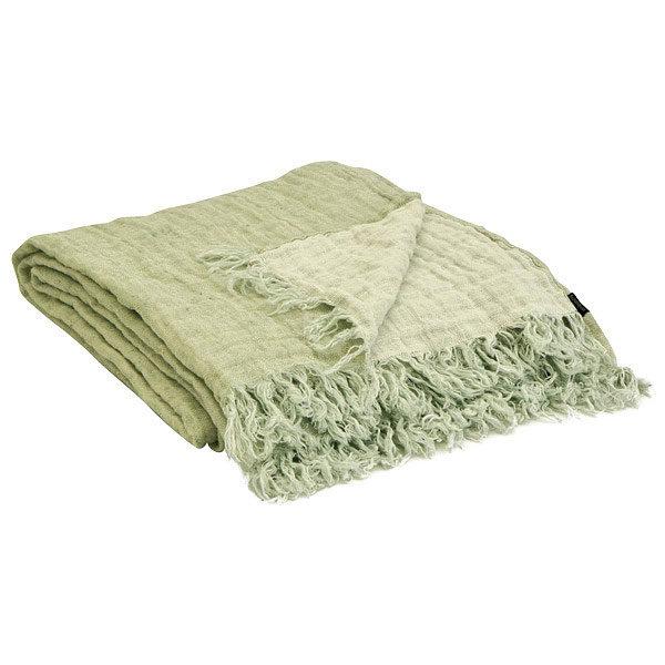 plaid tæppe i hør