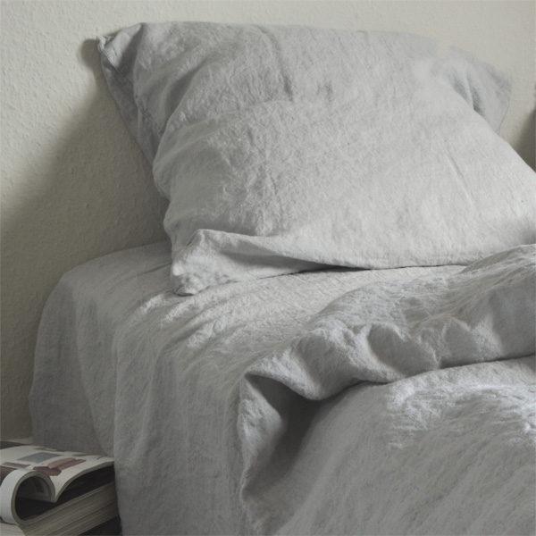 hør sengetøj grå