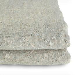 sengetæppe i vasket hør grå