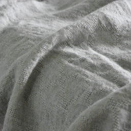 linen bedspread light gray