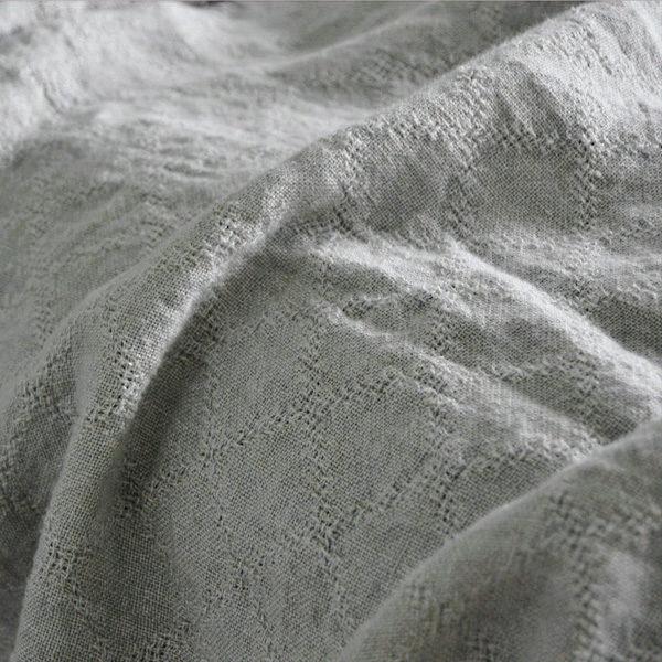 linen bedspread light gray