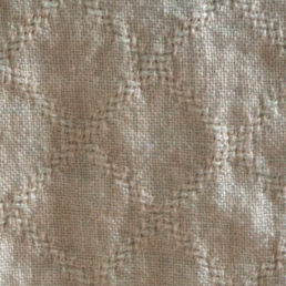 linen cushion cover with woven pattern of lace