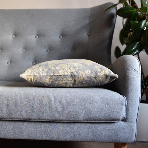 Cushion Cover with woven flowers