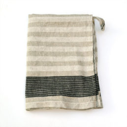 tea towel from washed linen