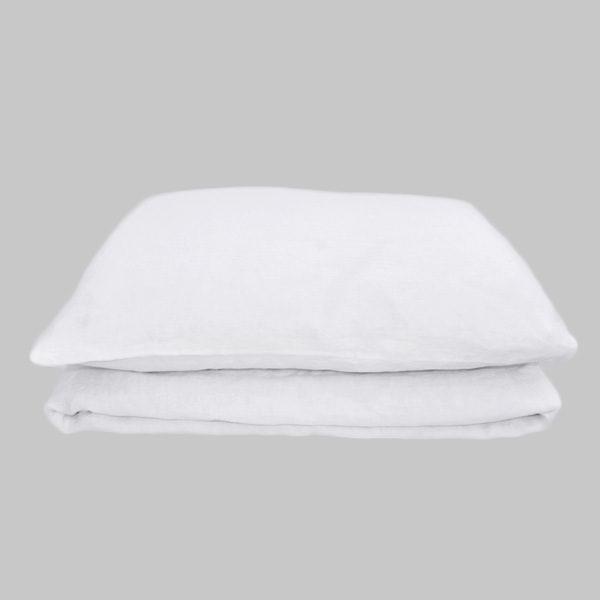 hør sengetøj hvid