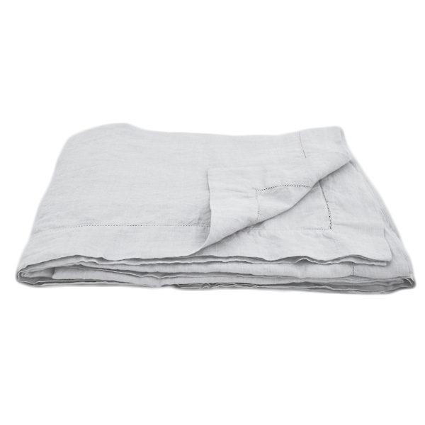 grå hør sengetæppe