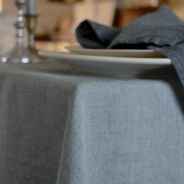 hørdug grå borddækning