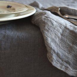 hørdug med servietter