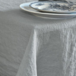 tablecloth light grey