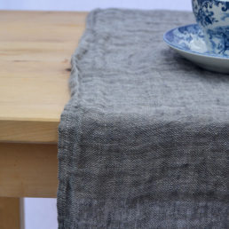 linen table runner washed