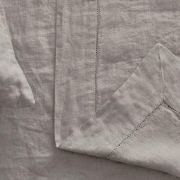 Linen bedspread Natural