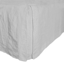 Washed linen bed skirt