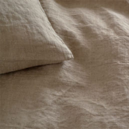 Washed linen bed set Natural