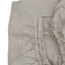 Fitted linen bed sheet Natural