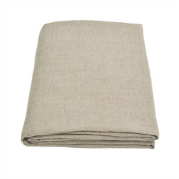 Washed linen bed sheet Natural