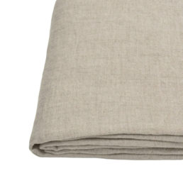 Washed linen bed sheet | Natural