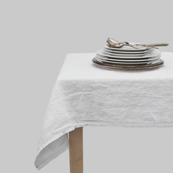 Lige ud Hørdug Hvid i fintvævæt vasket hør - Unik og Naturlig ZC36