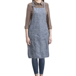 Classic washed linen apron