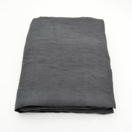 washed linen tablecloth Charcoal Grey