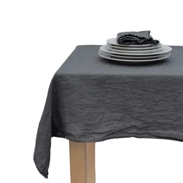 hørdug vasket hør koksgrå