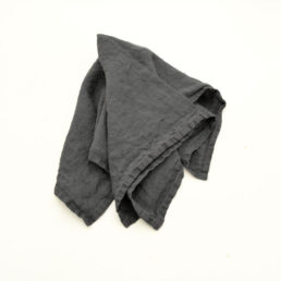 linen napkins Charcoal Grey