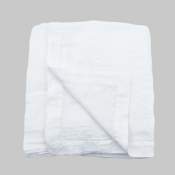 hørsengetæppe hvid