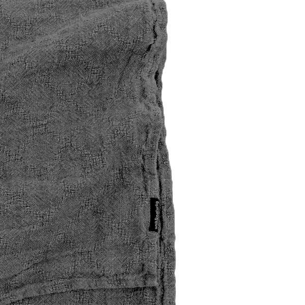 hørsengetæppe grafitgrå