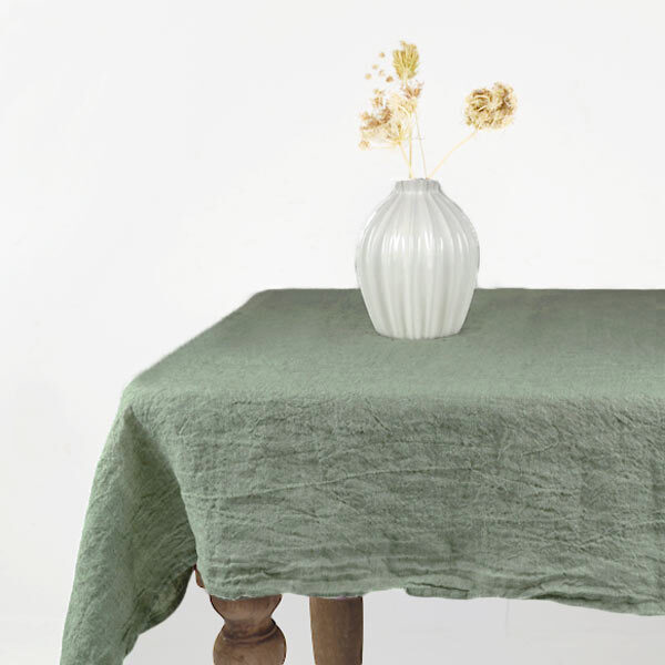 dusty green tablecloth