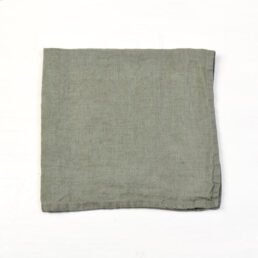 dusty green linen napkins