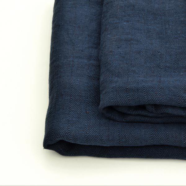 hørhåndklæde sildeben mørkeblå